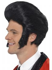 1950's Quiff King Wig In Black